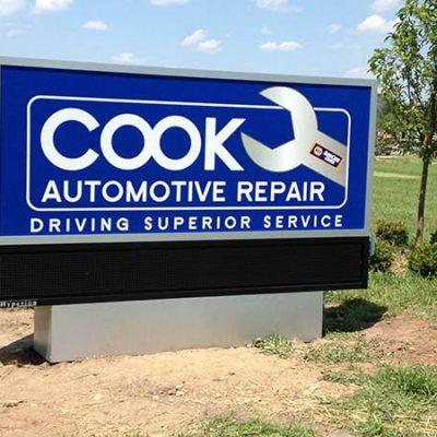 Cook Automotive Repair Sign