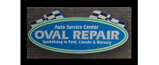 Oval Repair Sign